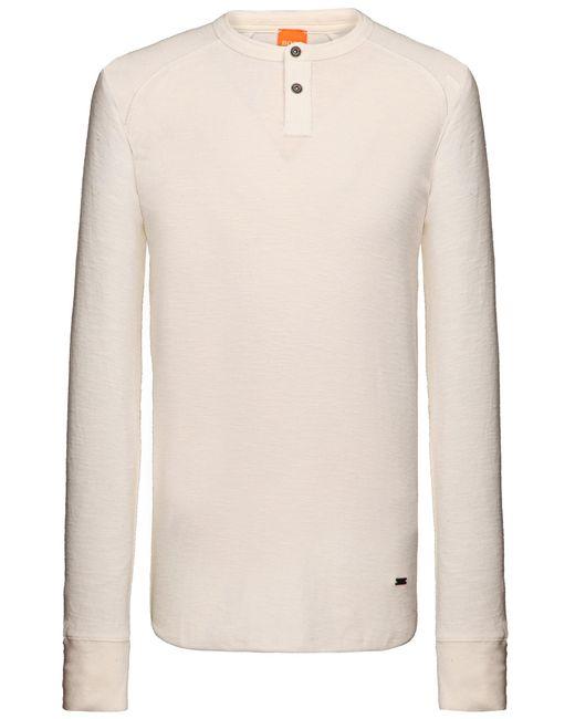 BOSS - Natural Cotton Long-sleeve Shirt 'trucker 1' for Men - Lyst