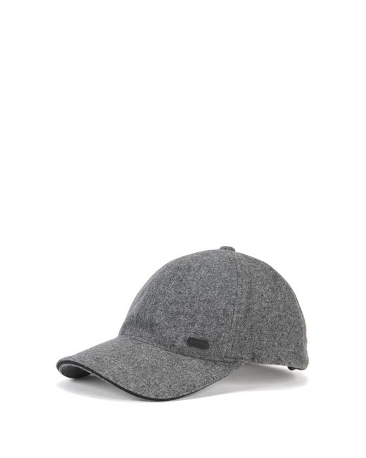 BOSS Green | Gray Wool-blend Baseball Cap for Men | Lyst
