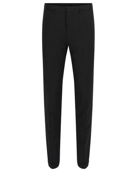 Extra-slim-fit trousers in virgin wool BOSS q1ATiPkwOm