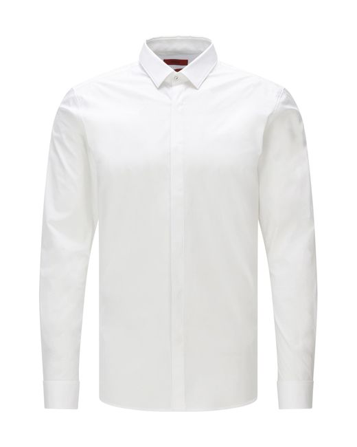 HUGO | White Extra-slim-fit Shirt In Stretch Cotton for Men | Lyst