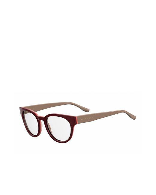 Lyst - Boss Burgundy Acetate Round Optical Frames | 0889 0u2 in Brown