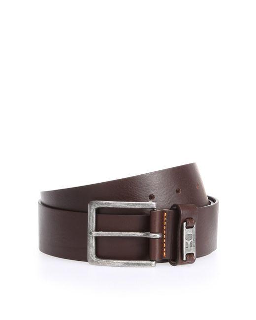 BOSS Orange | Brown Leather Belt With Branded Metal Loop for Men | Lyst