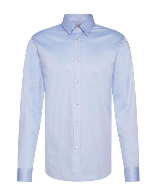 HUGO   Blue Slim-fit Shirt In Cotton: 'elisha' for Men   Lyst