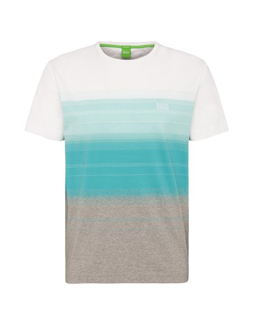 BOSS Green | Tee 12 Open Blue T-shirt for Men | Lyst