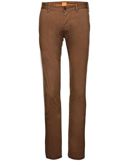 BOSS Orange | Brown Slim-Fit Chinos 'Schino-Slim1-D' for Men | Lyst