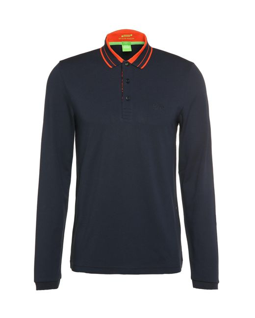 BOSS Green   Blue 'pleesy'   Slim Fit, Stretch Cotton Blend Polo for Men   Lyst