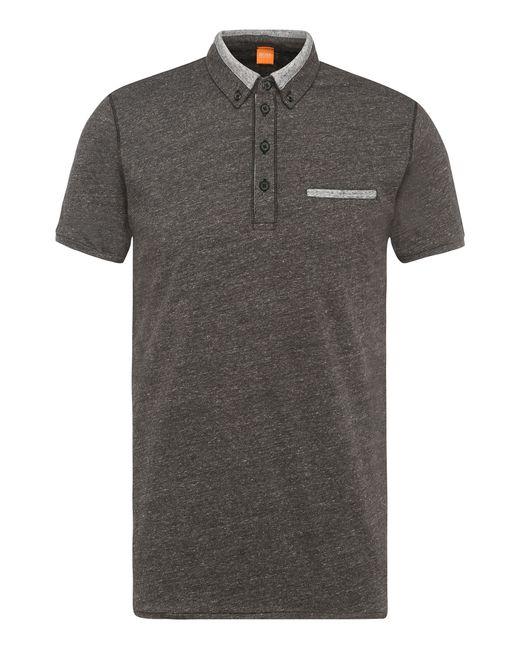BOSS Orange | Gray Slim-fit Polo Shirt In Mottled Cotton: 'pyx' for Men | Lyst