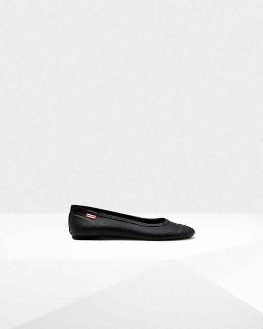 Hunter - Black Original Tour Gloss Ballet Flats - Lyst