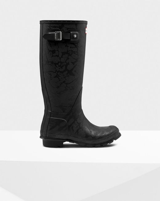 Hunter - Black Original Insulated Tall Wellington Boots - Lyst