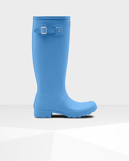 Hunter - Blue Original Tour Wellington Boots - Lyst