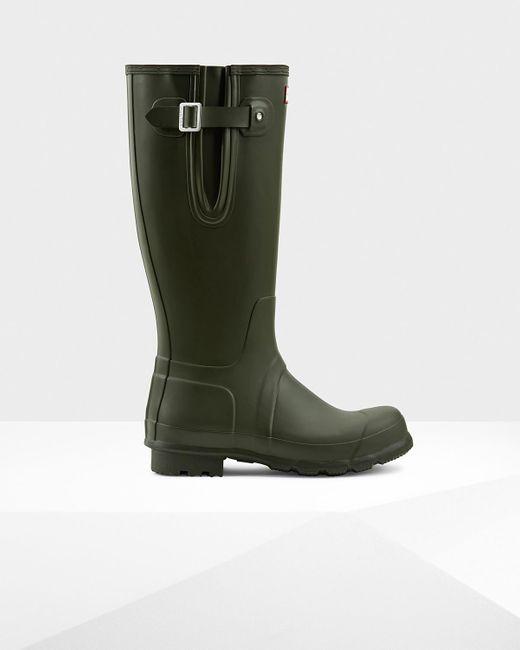 HUNTER   Green Men's Original Side Adjustable Wellington Boots for Men   Lyst