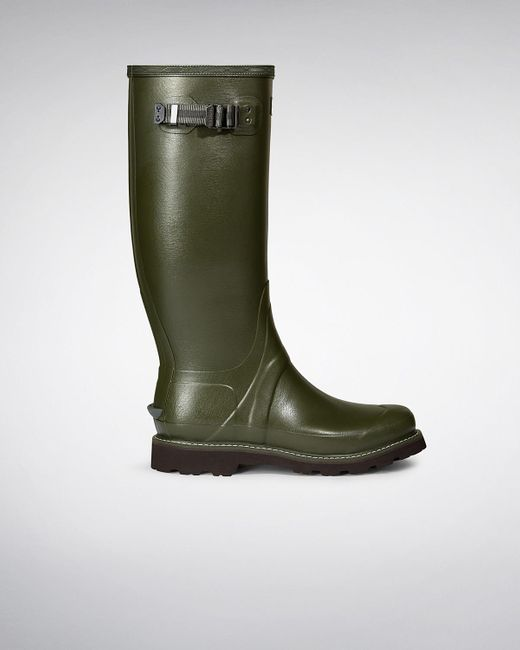 HUNTER | Green Balmoral Classic Waterproof Boot for Men | Lyst
