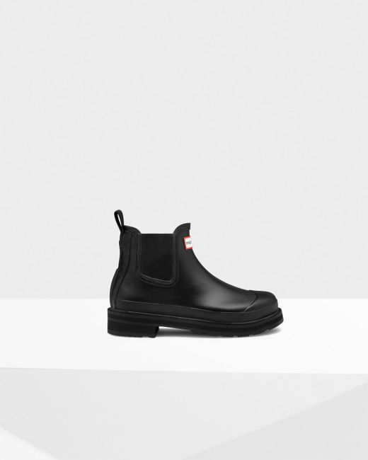 Hunter | Black Women's Original Pulltab Lightweight Chelsea Boots | Lyst