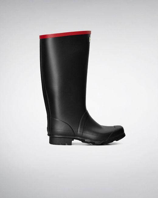 Hunter - Black Argyll Full Knee Wellington Boots for Men - Lyst