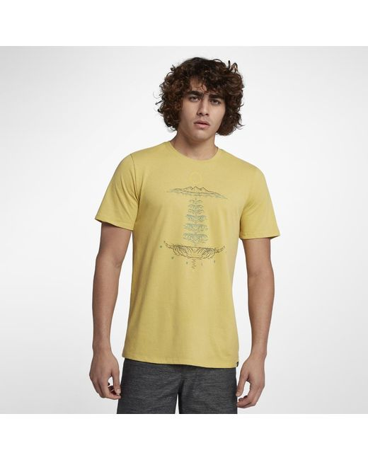 Hurley - Yellow Mainstay Dri-fit T-shirt for Men - Lyst