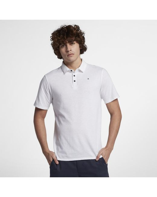 58bf00b1 Hurley Dri-fit Lagos Polo Shirt in White for Men - Lyst
