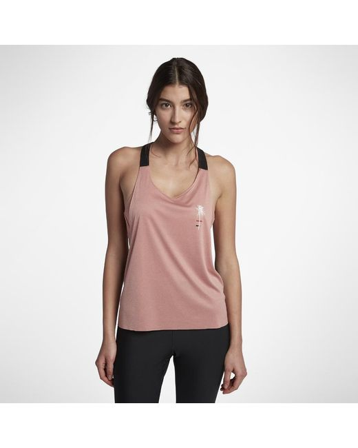Hurley - Pink Quick Dry Mesh Tank Top - Lyst