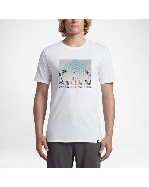 Hurley - White Cutter Hex T-shirt for Men - Lyst