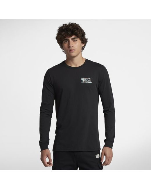 Hurley - Black Dri-fit Island Style Long Sleeve T-shirt for Men - Lyst