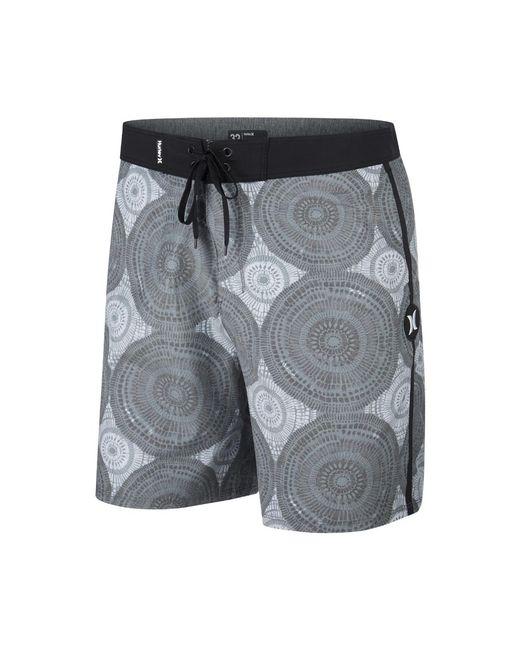 "Hurley - Black Beachside Kolide 18"" Board Shorts for Men - Lyst"