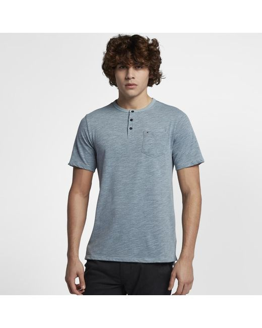 Hurley - Blue Dri-fit Lagos Henley Shirt for Men - Lyst