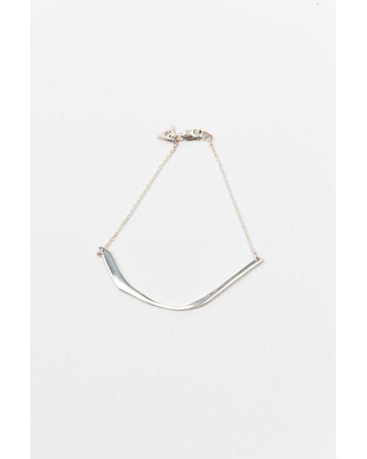 Faris   Metallic Cutout Bracelet   Lyst