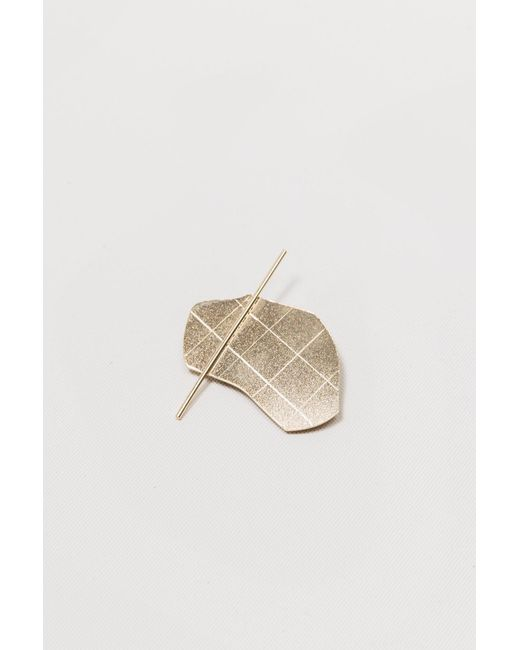 Knobbly Studio | Metallic The Blob Abstract Brooch-gold Plated | Lyst
