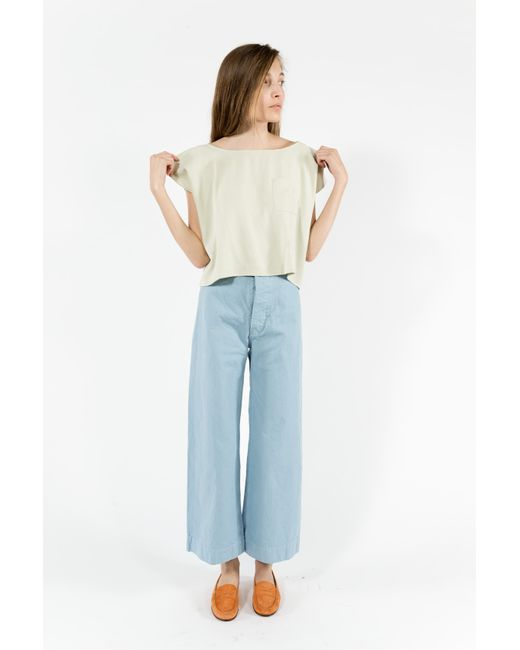 Jesse kamm sailor pants in blue piscine blue lyst for Piscine xs