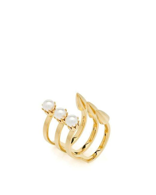 Joomi Lim | Metallic Love Thorn Spike & Pearl Open Ring | Lyst
