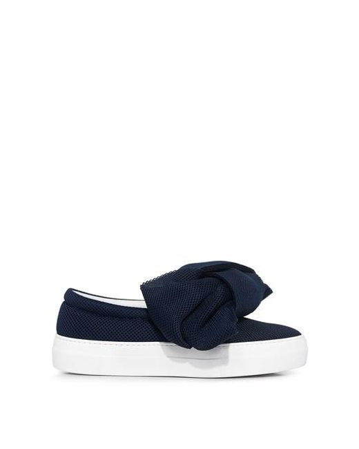 Joshua Sanders - Blue Bow Neoprene Slip On Sneakers - Lyst