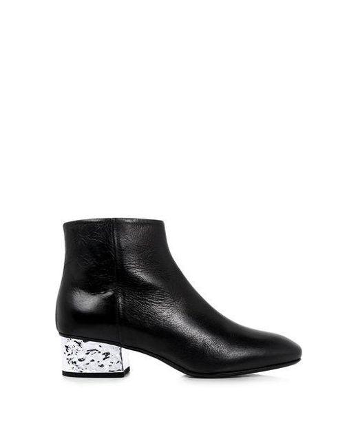 1684864dd514 McQ Alexander McQueen - Black Shacklewell Foil Heel Ankle Boots - Lyst ...