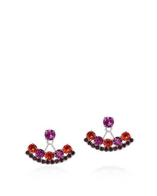 Joomi Lim - Multicolor Pixel Perfect Crystal Deco Earrings - Lyst