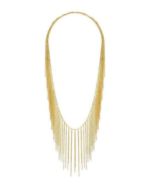 Fallon | Metallic Classique Fringe Necklace | Lyst