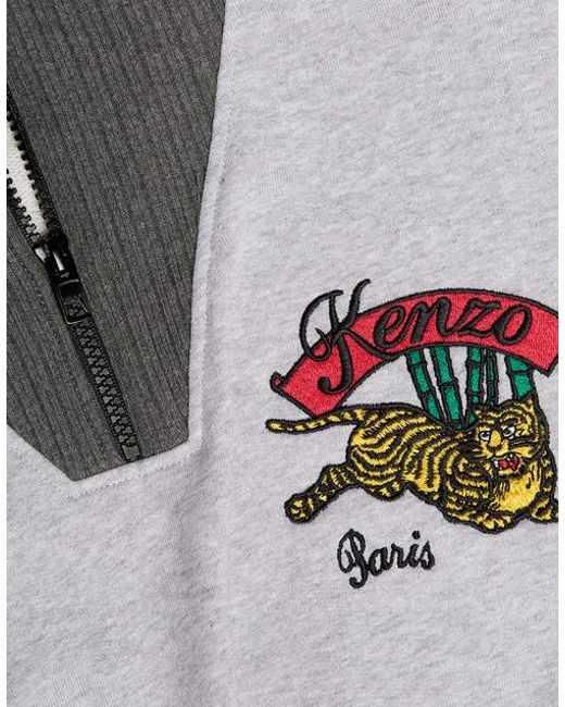 c5672c31 ... KENZO - Gray Bamboo Tiger Embroidered Boxy Sweatshirt - Lyst