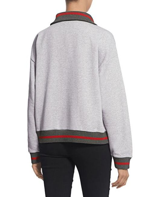 976d0919 ... KENZO - Gray Bamboo Tiger Embroidered Boxy Sweatshirt - Lyst ...