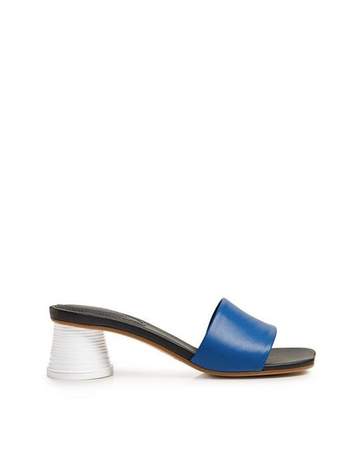89495ce34e MM6 by Maison Martin Margiela - Blue Block Heeled Mules - Lyst ...