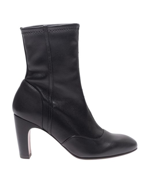 Chie Mihara Black Eina Leather Ankle Boots