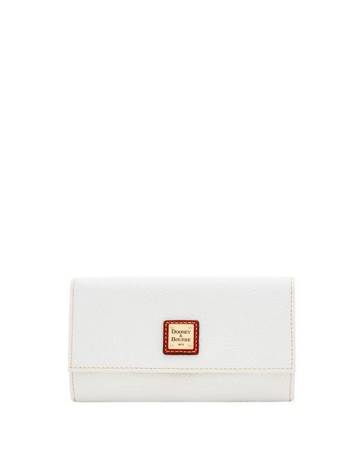 Dooney & Bourke - White Pebble Grain Framed Continental Wallet - Lyst