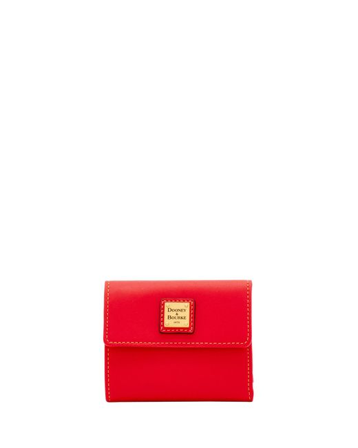 Dooney & Bourke - Red Emerson Small Flap Wallet - Lyst