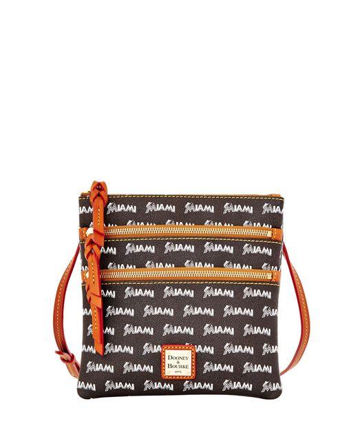Dooney & Bourke - Multicolor Mlb Marlins Triple Zip Crossbody - Lyst