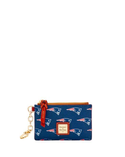 d83914014eb1 Dooney   Bourke - Blue Nfl Patriots Zip Top Card Case - Lyst ...