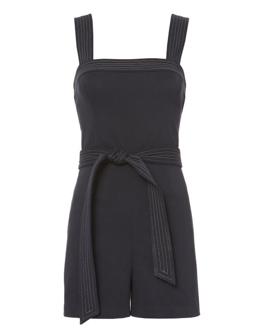 Exclusive For Intermix | Blue Bianca Twill Romper | Lyst