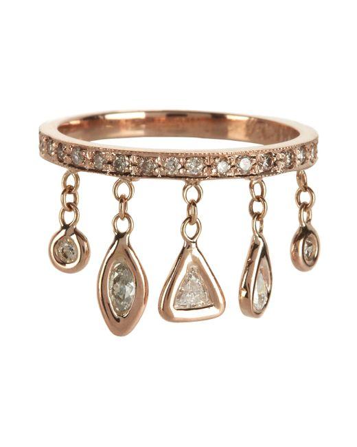 Jacquie Aiche | Metallic Pavé Five Diamond Shaker Ring | Lyst