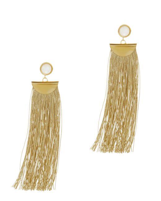 Lizzie Fortunato | Metallic Gold Shoulder Duster Earrings | Lyst