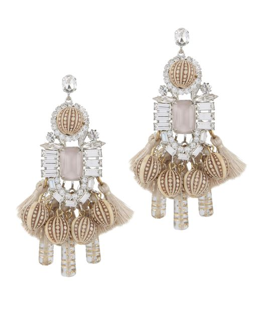 Elizabeth Cole | Multicolor Olette Crystal Pendant Earrings | Lyst