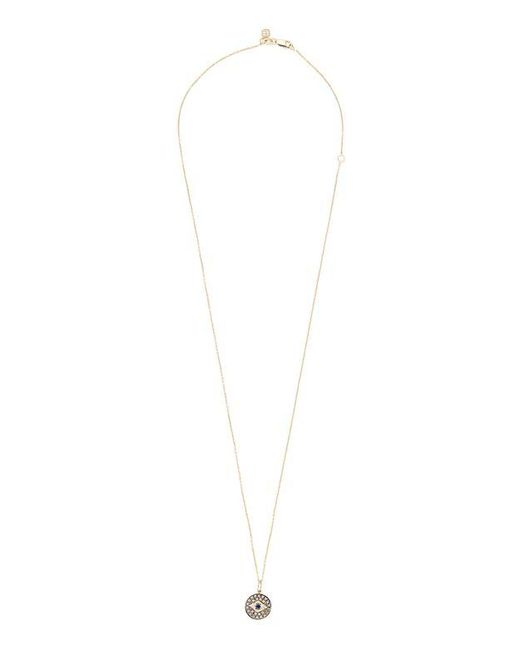Sydney Evan | Metallic Evil Eye Diamond Necklace | Lyst