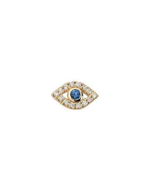 Sydney Evan | Metallic Evil Eye Diamond Stud Single Earring | Lyst