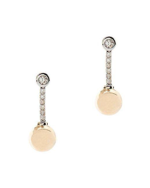 Mateo   Metallic Diamond Sphere Earrings   Lyst