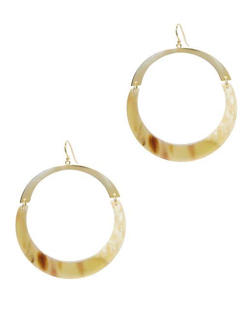 Argento Vivo - White Flat Gold Hoops - Lyst