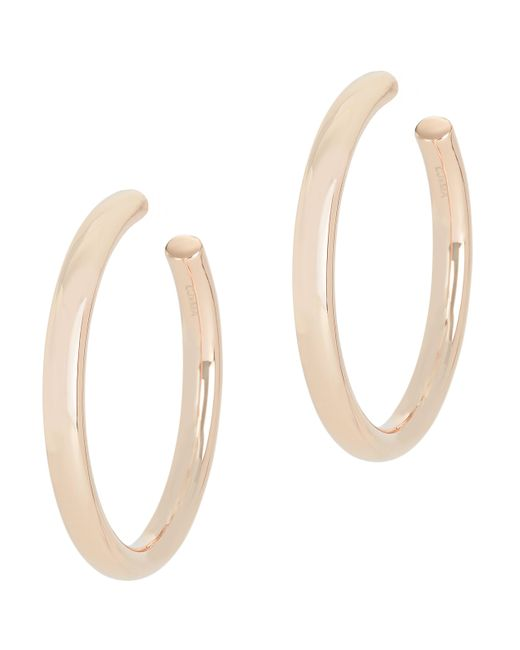 Melanie Auld | Pink Modern Rose Gold Tone Hoops | Lyst